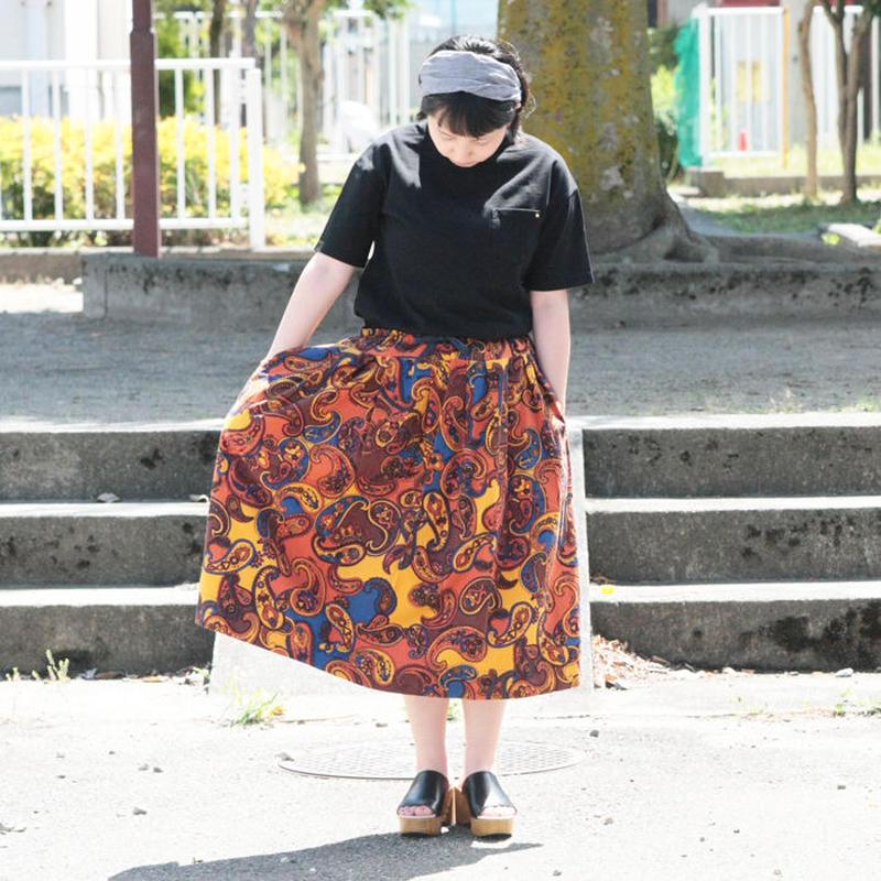 *レディース*TIGRE BROCANTE★ティグルブロカンテ★コットンネルペイズリーポケットフィセルスカート