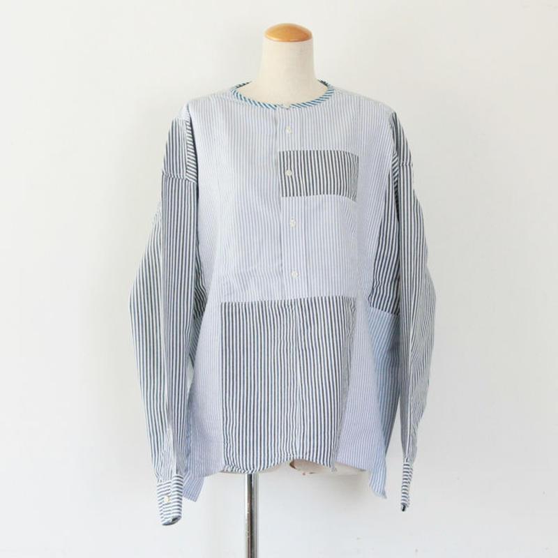 *ユニセックス*yoused ★ユーズド★Side Button Big Shirts サイドボタンビッグシャツ(B柄)