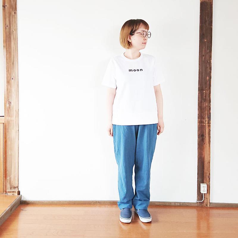 """レディース*快晴堂-カイセイドウ-Girl's 海上がりTシャツ""""MOON/白""""(91C-29)"""
