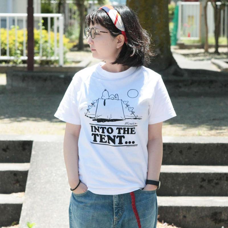 *ユニセックス*Vintage PEANUTS★ビンテージピーナッツ★スヌーピーINTO THE TENT...&ウッドストックCAMPFIRE SONGS...