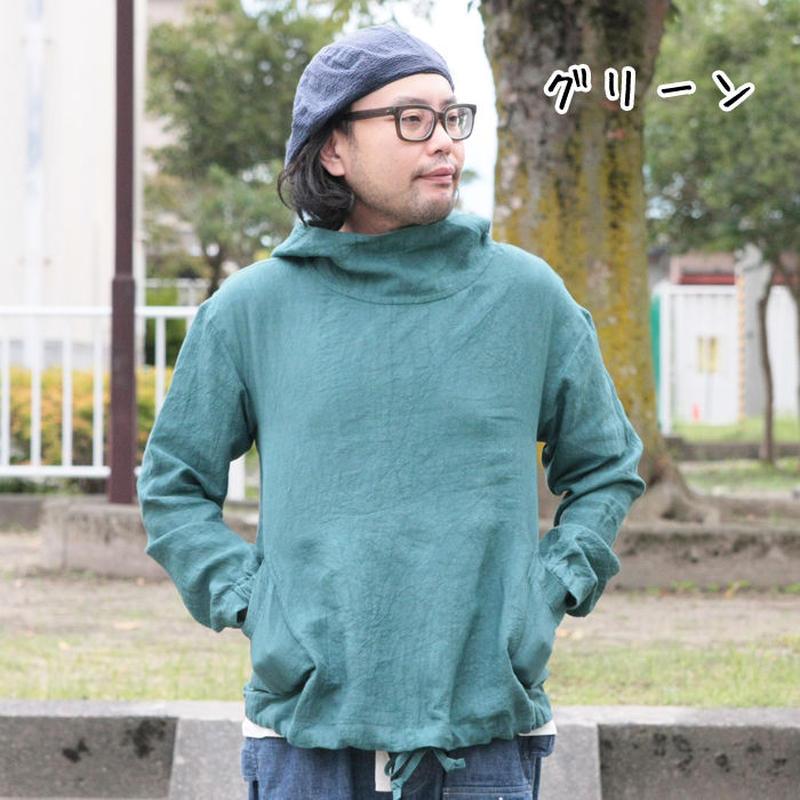 *ユニセックス*Torinoco★トリノコ★ Rabbit Hutchサイズ別注 d.d.w linen フードブルゾン プルオーバー