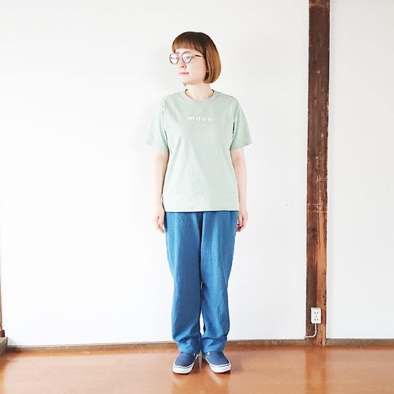 """レディース*快晴堂-カイセイドウ-Girl's 海上がりTシャツ""""MOON/ヨモギ""""(91C-29)"""