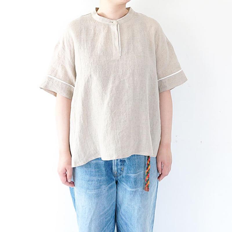 送料無料*レディース*Torinoco(Soi)★トリノコ★ベルギーリネン BIG ポロシャツブラウス