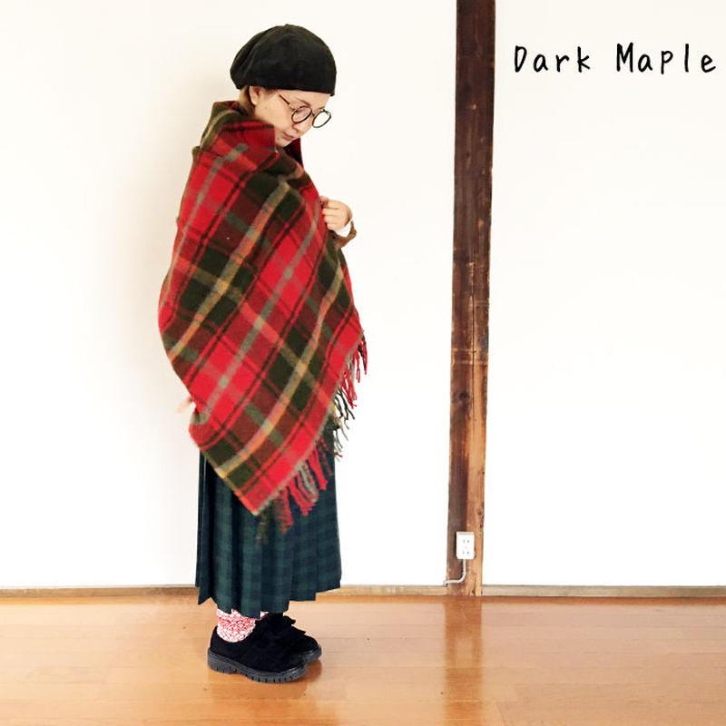 *goods*TWEEDMILL★ツウィードミル★ストール 大判 ブランケット(Dark Maple)