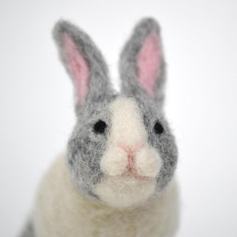 ウサギ 羊毛フェルト