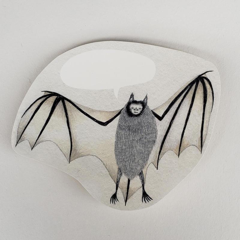 [ moritaMiW ] ポストカード (10) 蝙蝠踊る