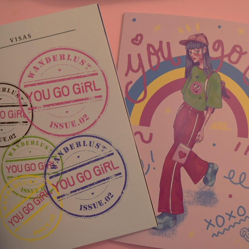 YOU GO GiRL zine  #2 The wanderlust issue