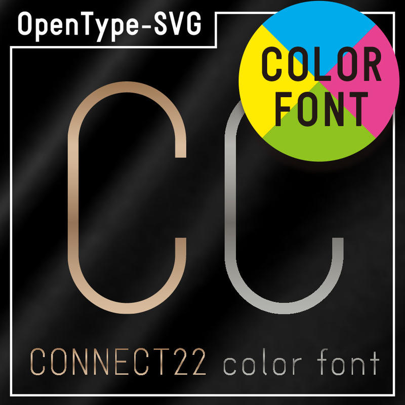 CONNECT22 color font(コネクト22 カラーフォント)