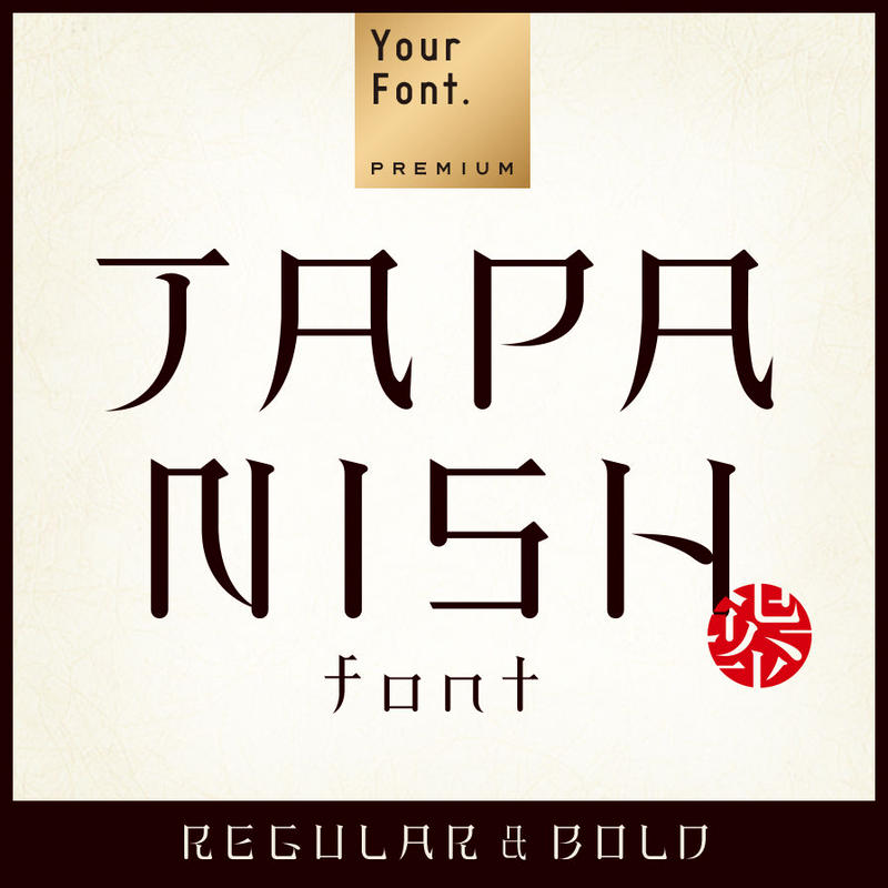 JAPANISH font Regular&Bold(ジャパニッシュ フォント 2ウェイト)