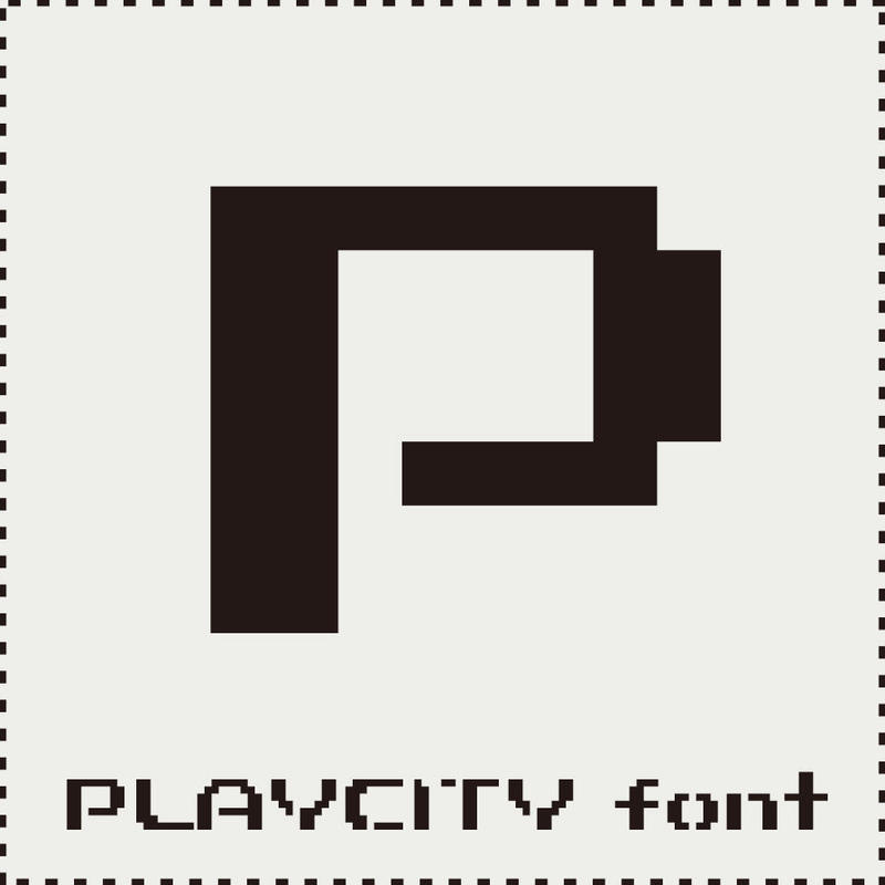 PLAYCITY font(プレイシティ フォント)