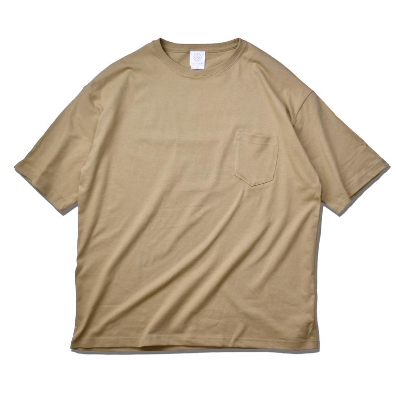 Big Silhouette Pocket Tee  【Sand Khaki】