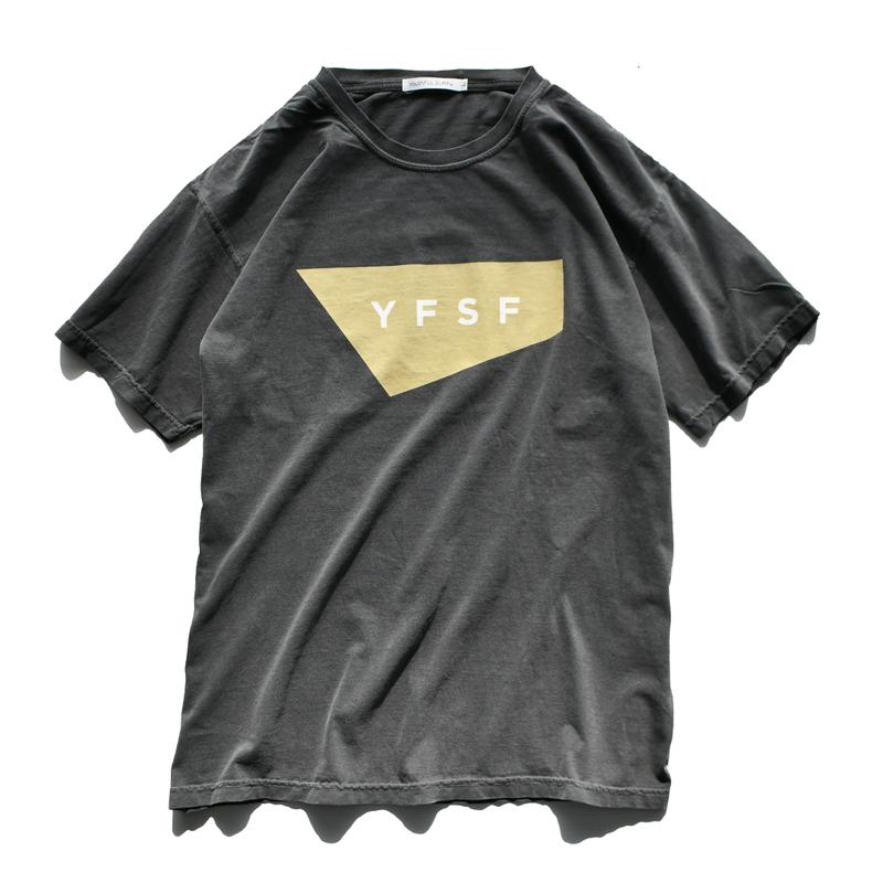 【予約商品】YFSF STANDARD Logo Pigment Dyed Tee【Pepper】