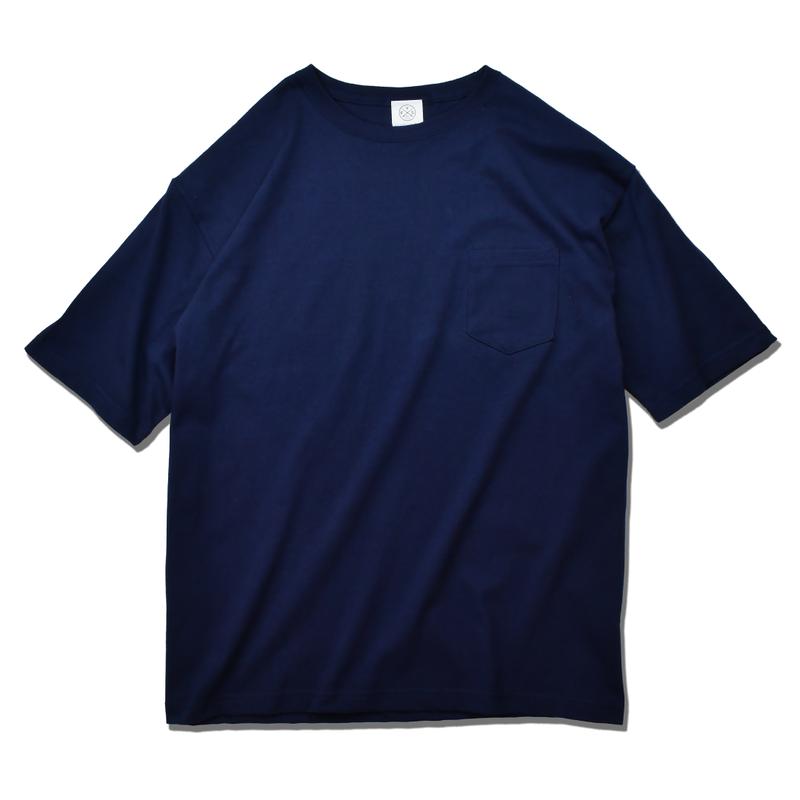Big Silhouette Pocket Tee  【Navy】