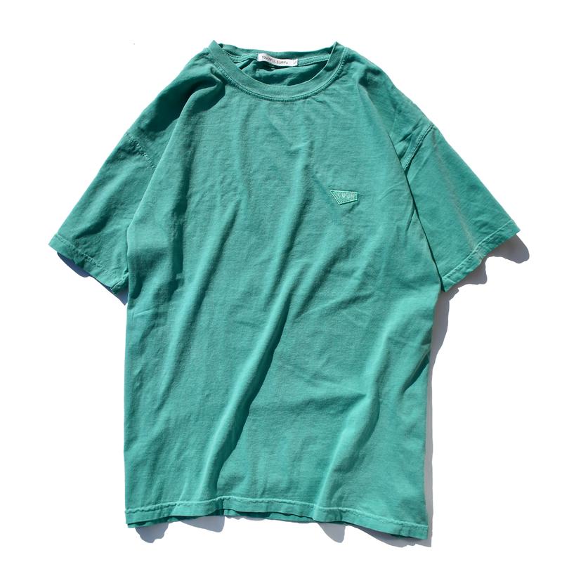 【予約商品】Standard logo  embroidery pigment dyed Tee【Seafoam】