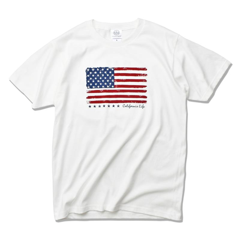 The American flag  Tee  【White】