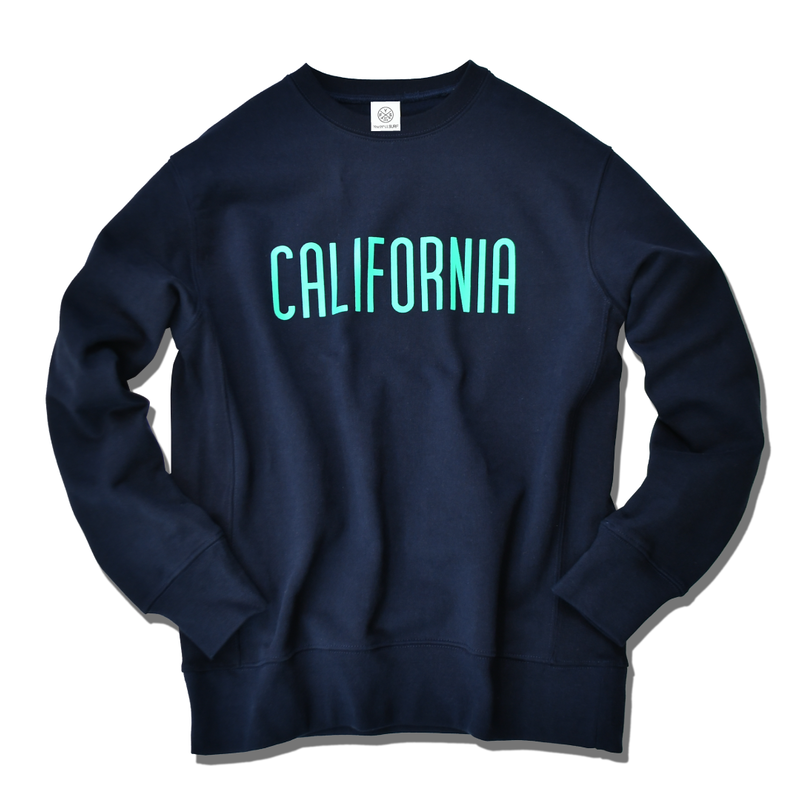 CALIFORNIA logo  heavy weight crewneck sweatshirt【Navy】