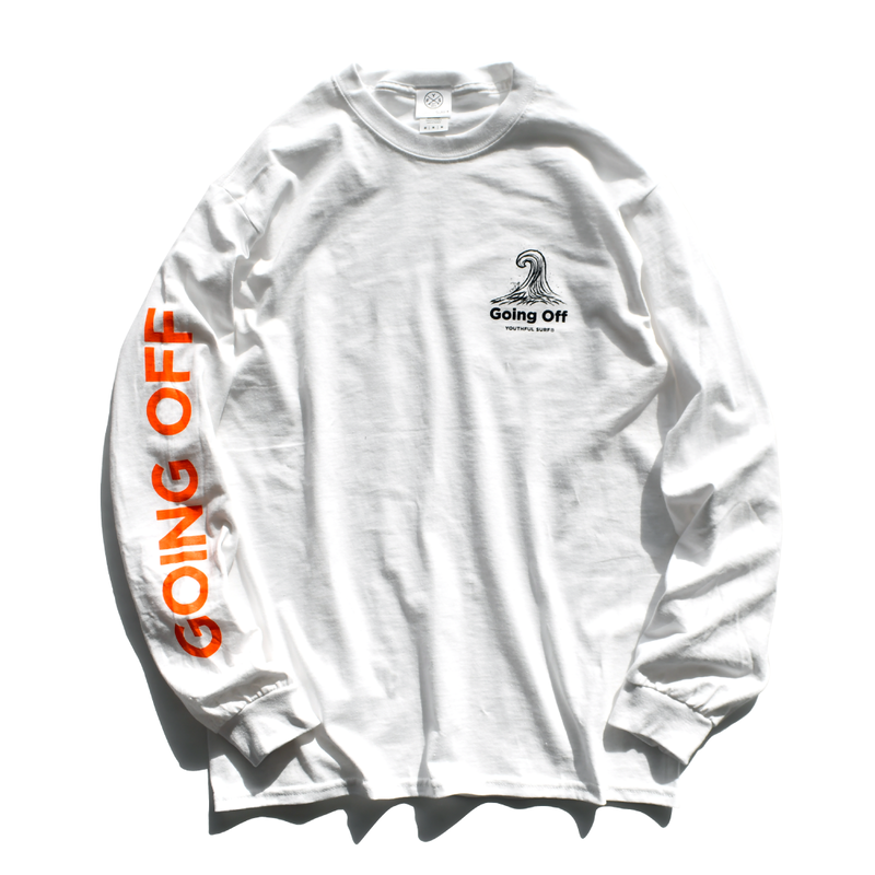 GOING OFF  Long Sleeve Tee【White】