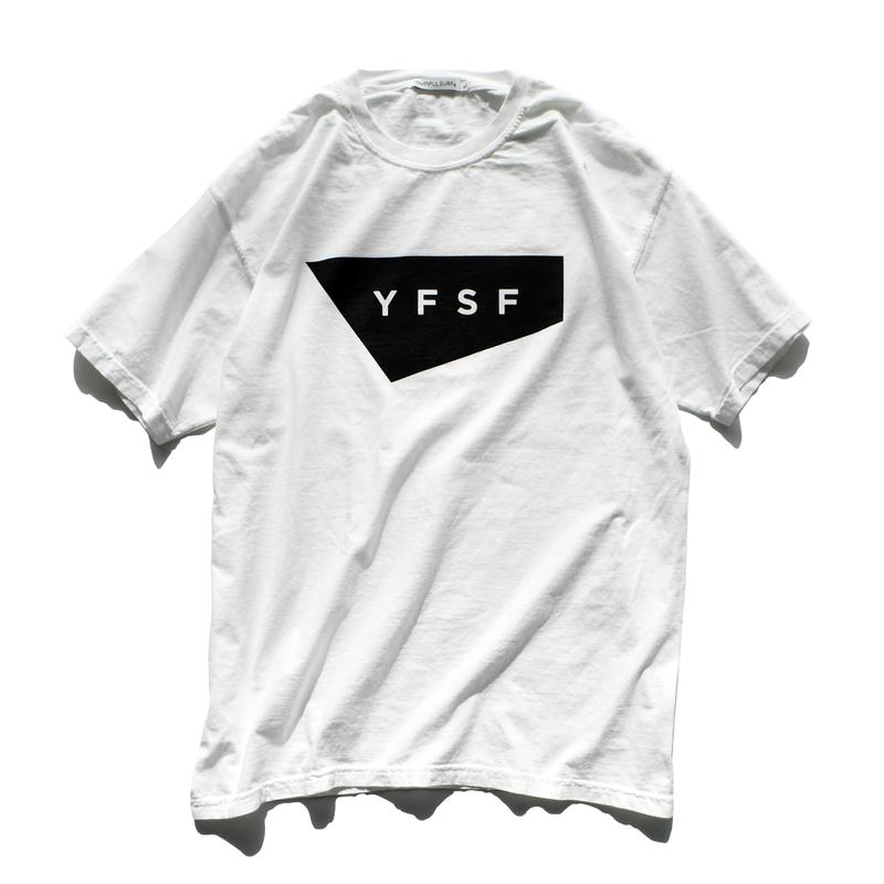 【予約商品】YFSF STANDARD Logo Pigment Dyed Tee【White】