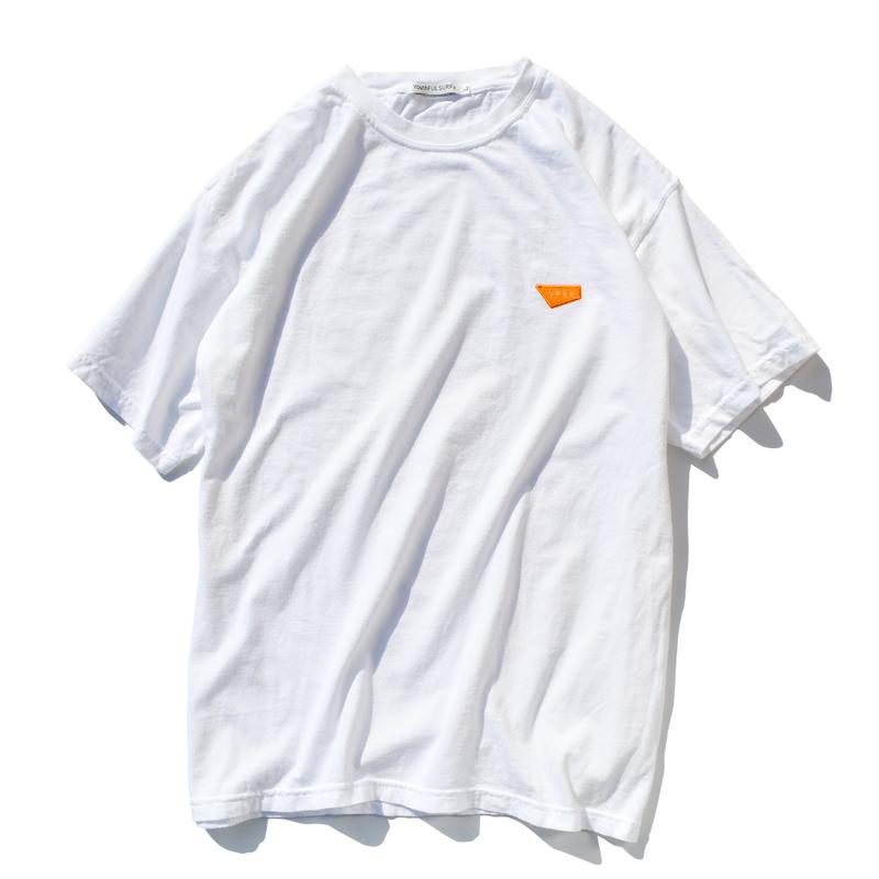 【予約商品】Standard logo  embroidery pigment dyed Tee【White】