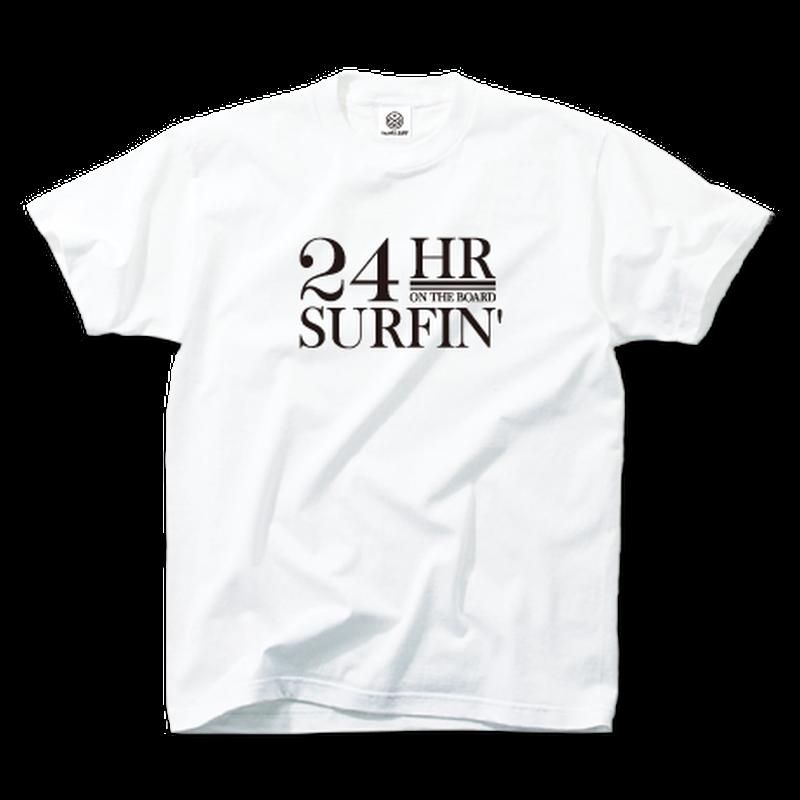 24HR SURFIN'  Tee  【White】