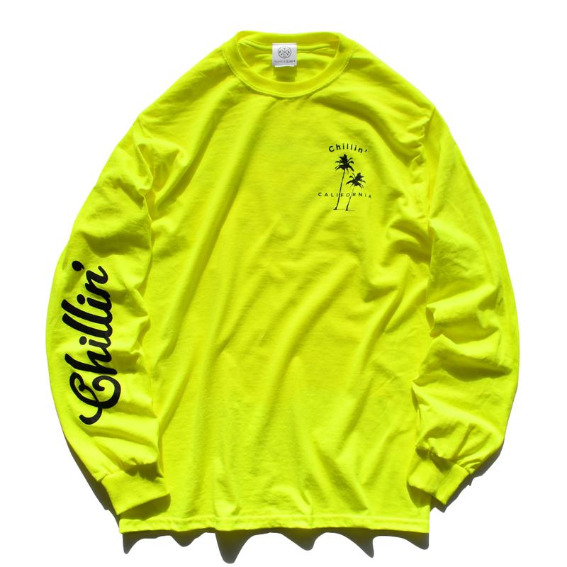 Chillin' California  Long Sleeve Tee【Neon Yellow】