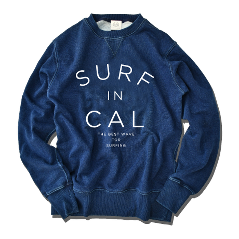 SURF IN CALIFORNIA crewneck sweatshirt【Indigo】