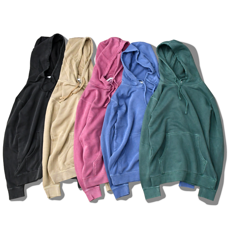 Pigment Dyed hooded sweatshirt