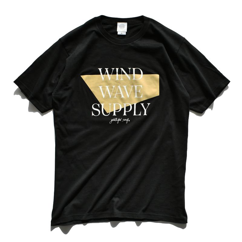 WIND WAVE SUPPLY Tee  【Black】