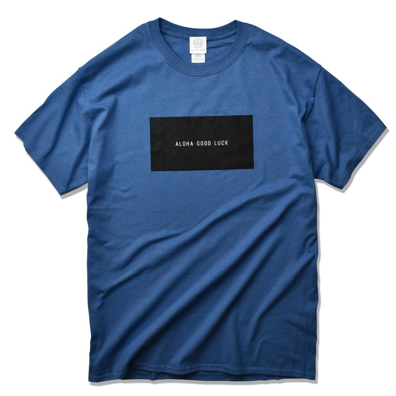 ALOHA GOOD LUCK BOX LOGO  Tee  【Indigo Blue】