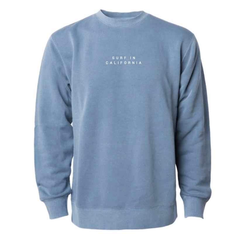 SURF IN CAL. Pigment Dyed crewneck sweatshirt 【Pigment Slate Blue】
