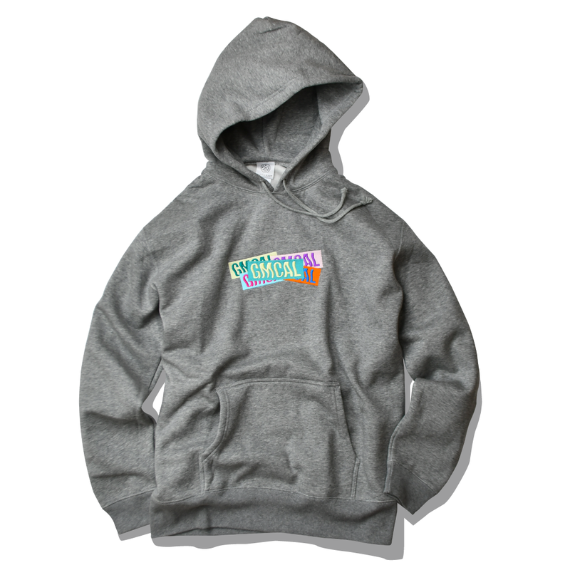 GMCAL Boxlogo Embroidered hooded sweatshirt【Gray】