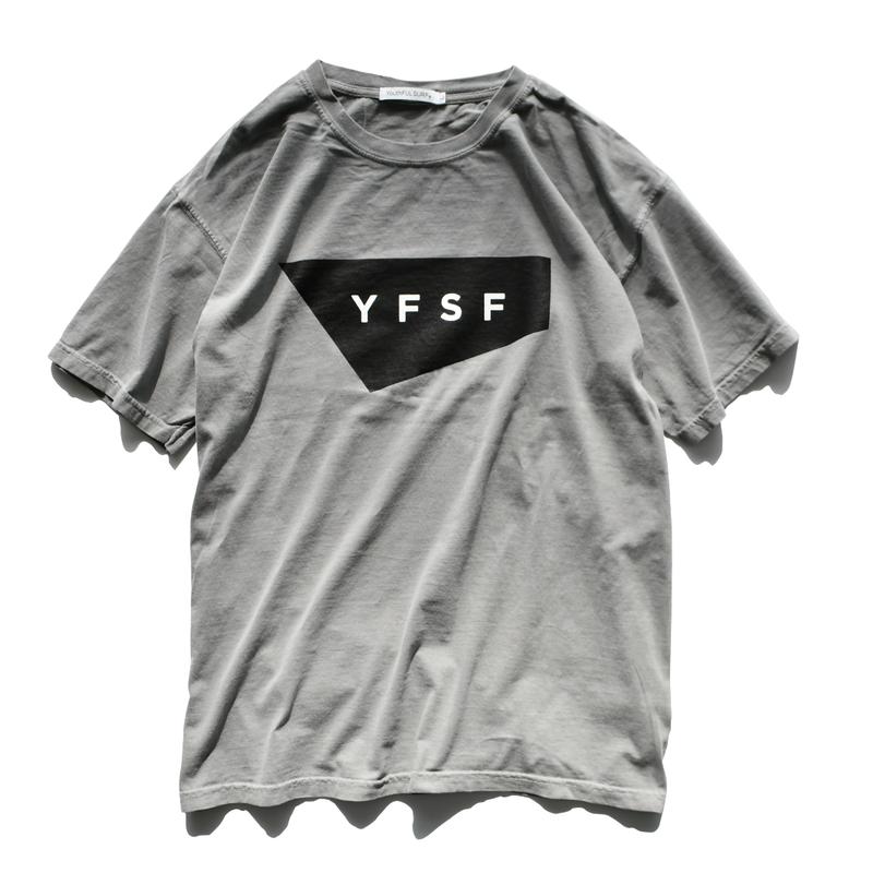 【予約商品】YFSF STANDARD Logo Pigment Dyed Tee【Gray】