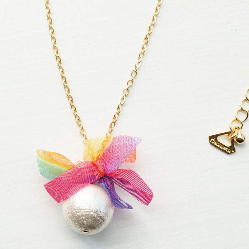 rainbowflower necklace