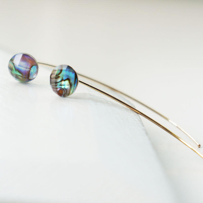 K14gf abalone shell × crystal line pierce