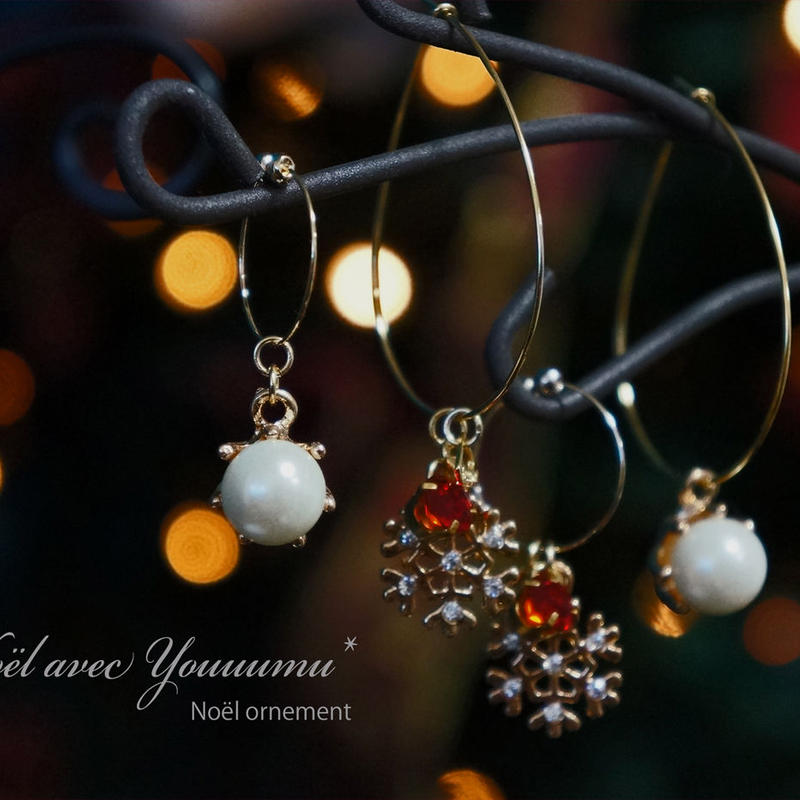 【Noël avec Youuumu*】 Noël Ornement pierce/earring