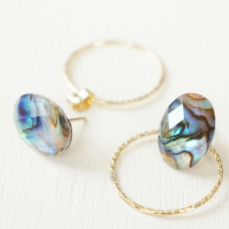 K14gf abalone sell × crystal pierce L