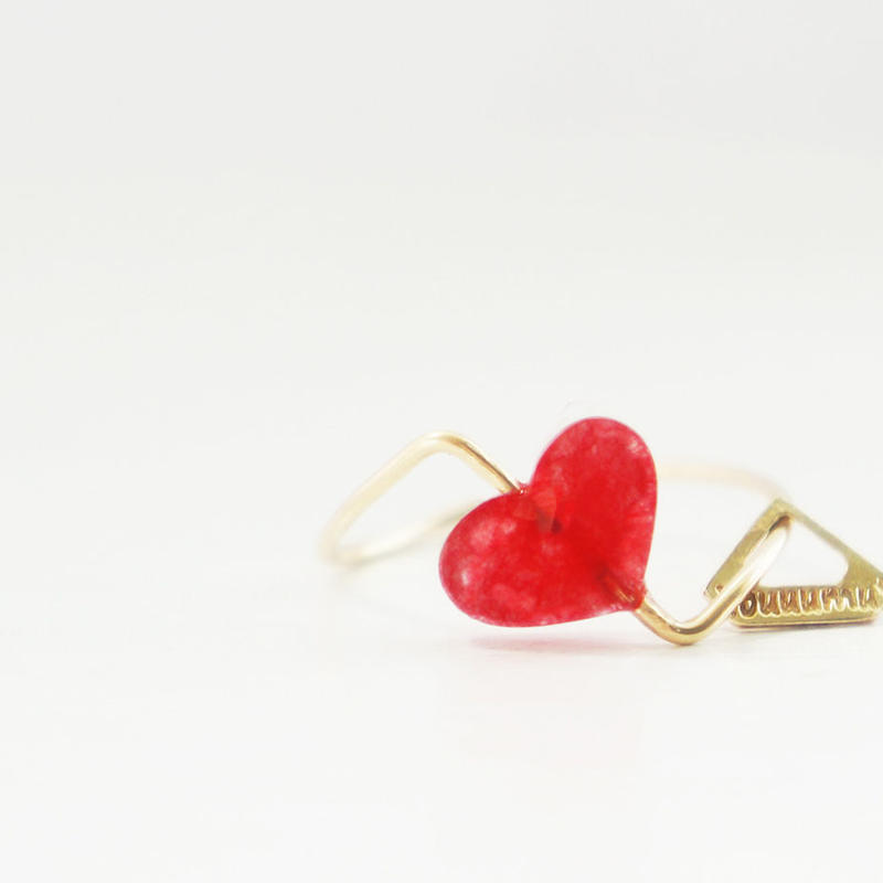 【K10 】 quartz heart ring ・by YouuumuJewelry*