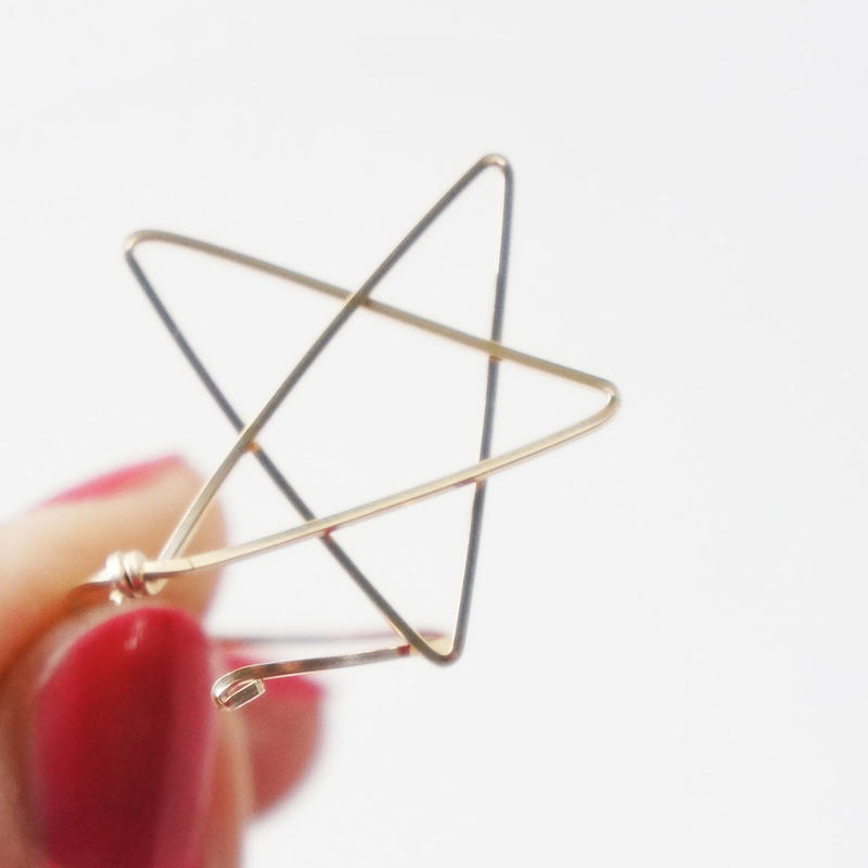 K14gf star ring