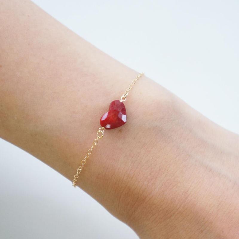 K14gf coral heart bracelet ♥