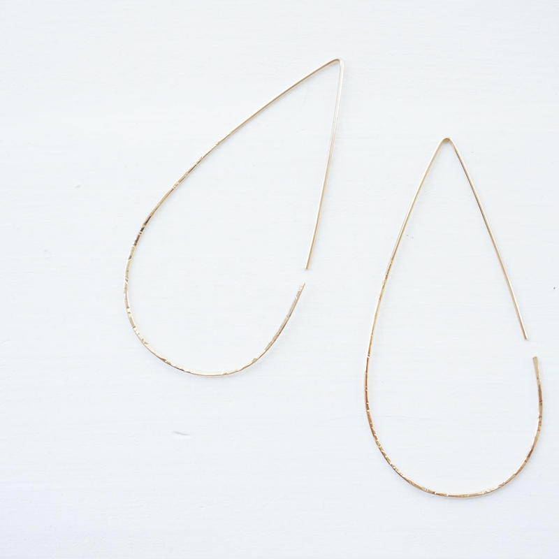 K14gf drop hoop pierce