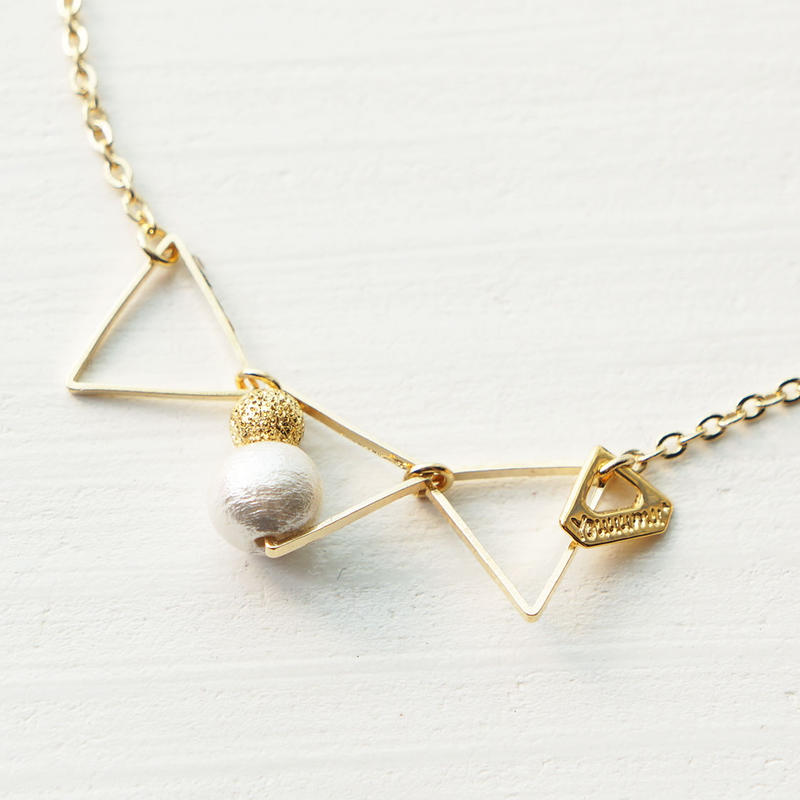 petit▽▽▽triangle necklace