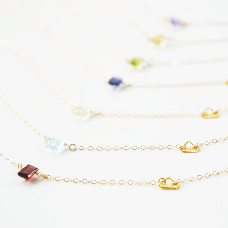 K14gf candy color necklace
