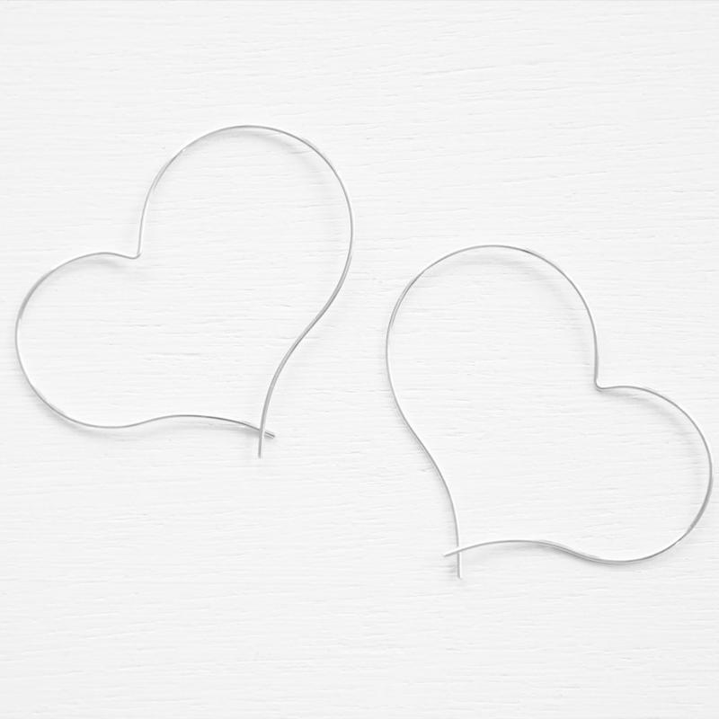 silver930 happy heart pierce L