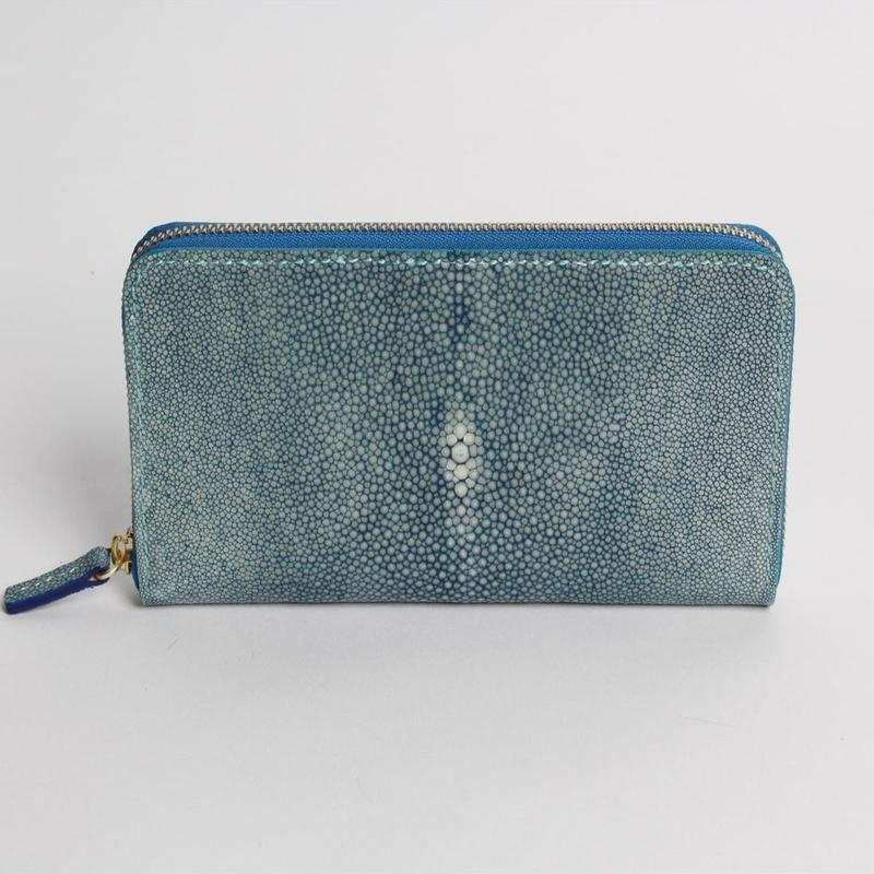 長財布:ラウンド(ルーナ)天然藍染