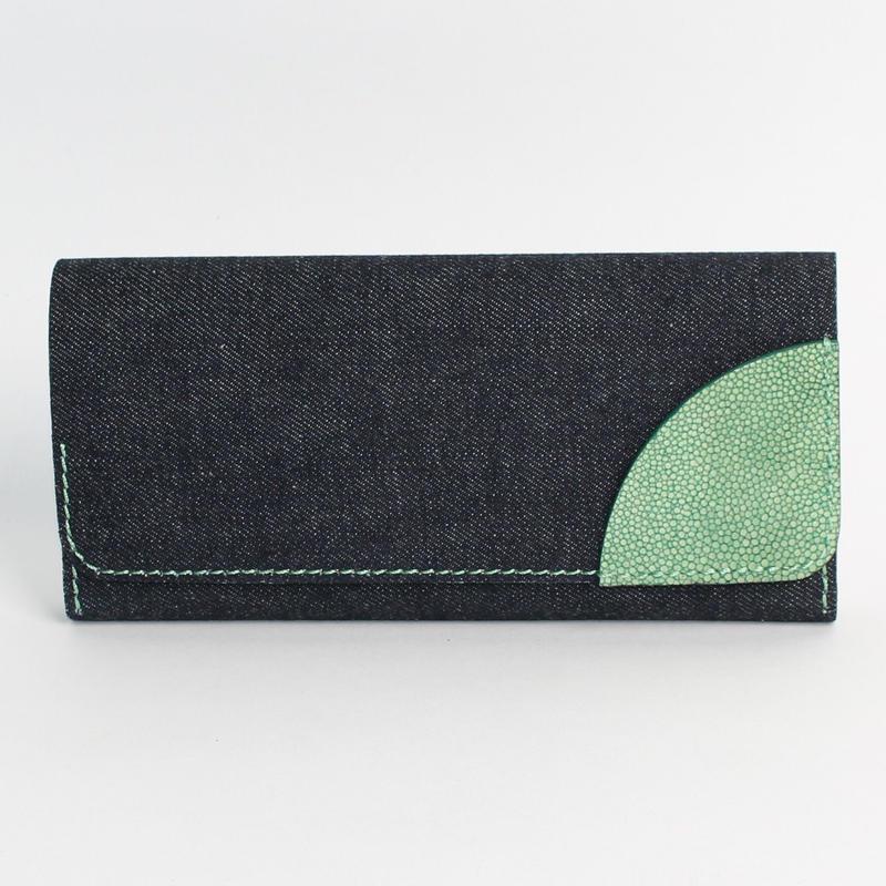 長財布:カブセ(デニムコラボ)
