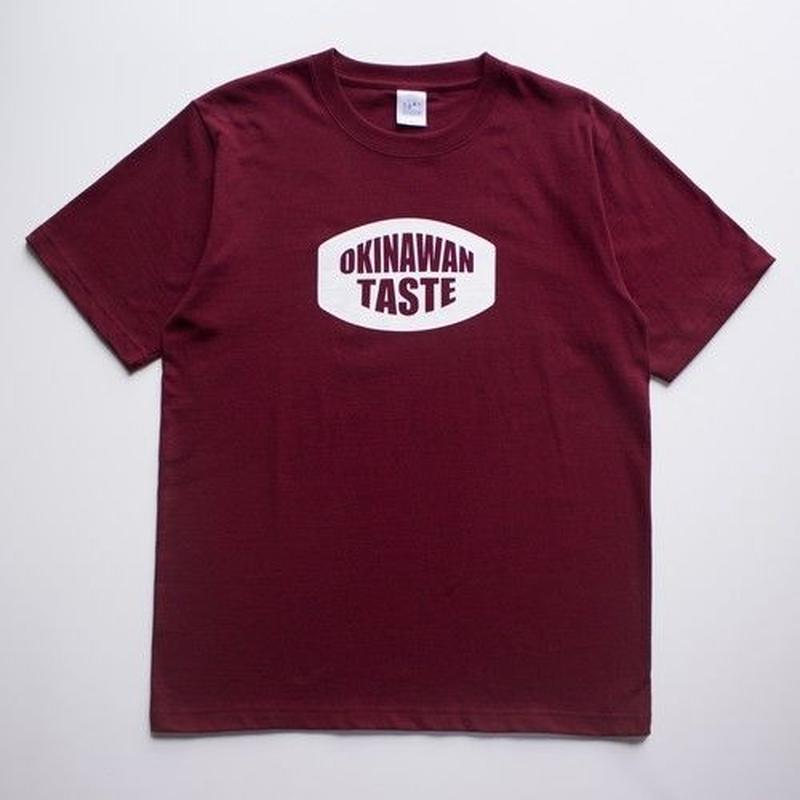 OKINAWAN TASTE ベーシックロゴTシャツ(Burgundy×White)