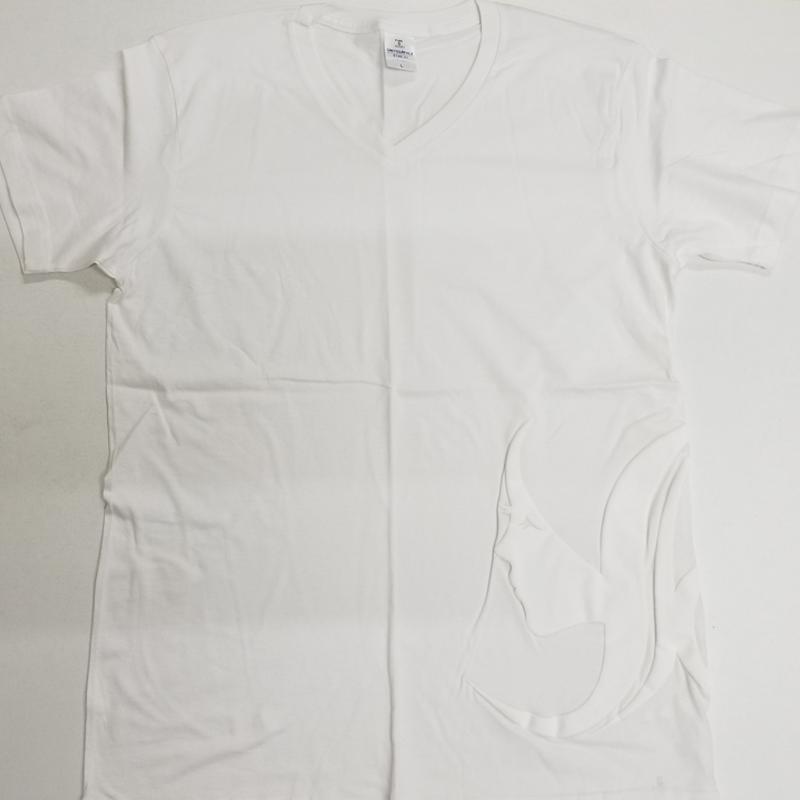 吉永加世子オリジナルTシャツ(白Vネック)サイズ:L