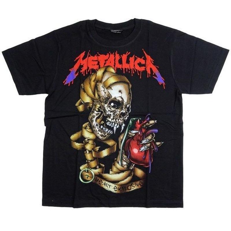 ロックTシャツ METALLICA メタリカ HeartExplosive 0128