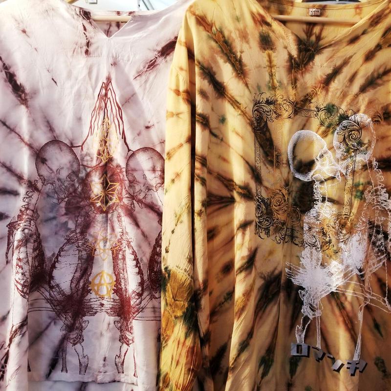 ロマンチック染めLSシャツ