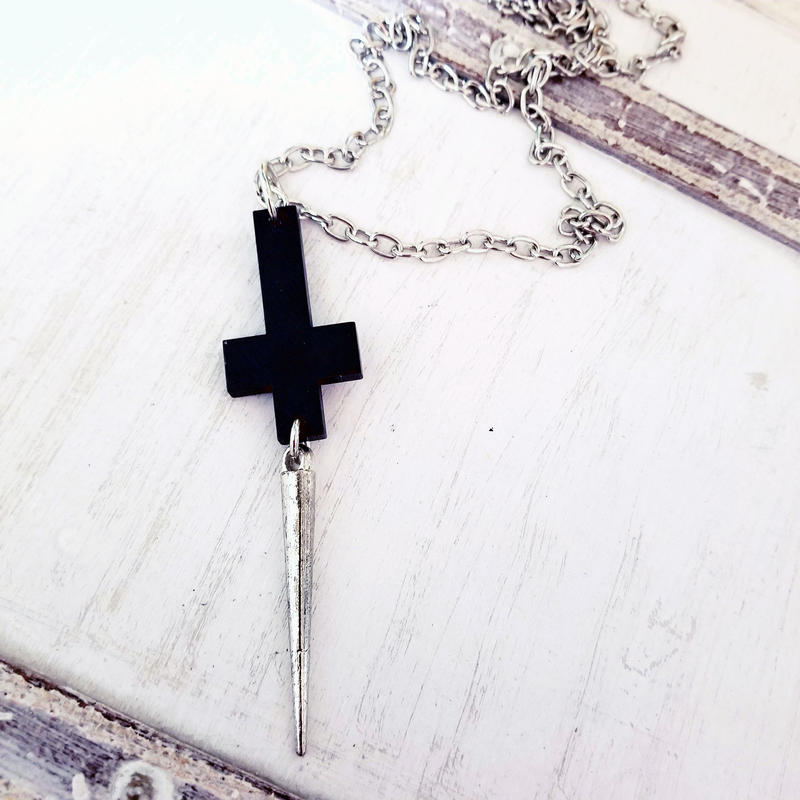 DownCross Necklace